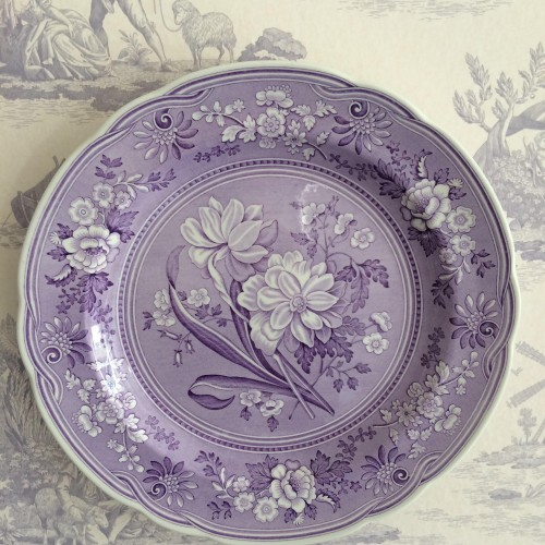 Plate with early victorian engraving decorating the walls at Park House