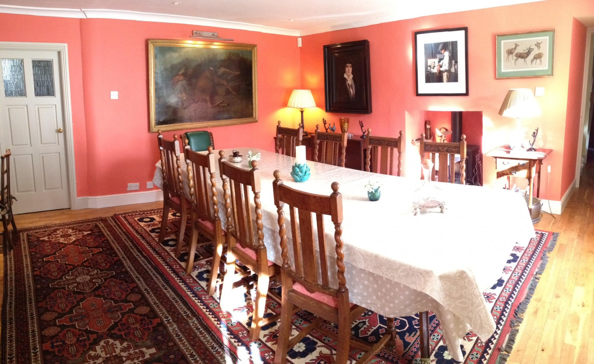 Breakfast is served in the Dining room at Park House