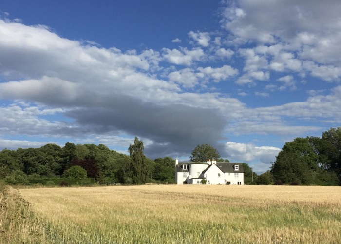 The Park House see from neighbouring wheat fields